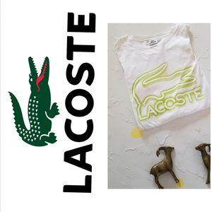 LACOSTE SPORT SIZE 8 XXL T SHIRT EUC short sleeve